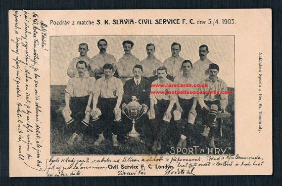 1904 Civil Service FC Prague postcard
